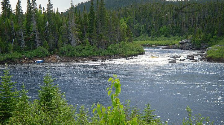 Río Eagle en la Península de Labrador