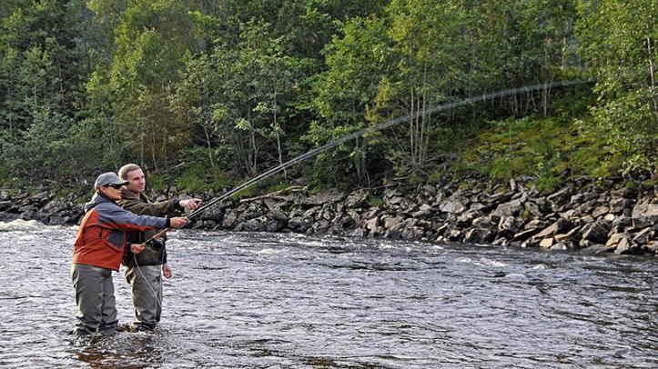 Servicio de guia en el río Gaula. NFC Tramo B1