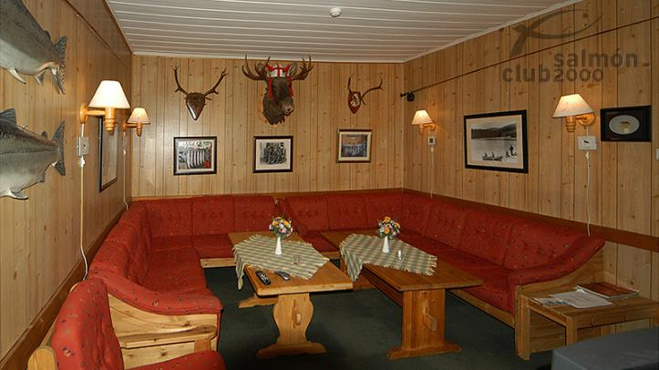Interior del Orkla River Lodge