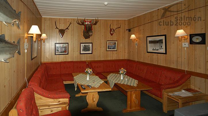 Interior del Orkla River Lodge