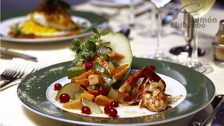 Comida del restaurante en el Alphonse Island Resort