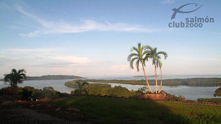 Vista al Golfo de Chiriquí, en el Mar Caribe de Panamá