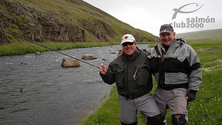 Pescadores en  Río Vatnsdalsá
