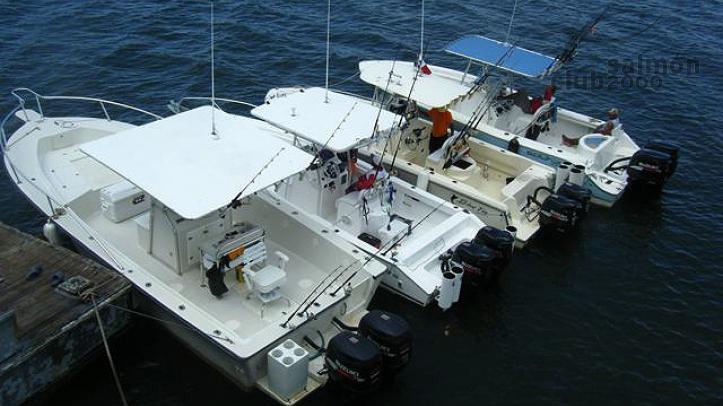 Flota de lanchas para la pesca en el Golfo de Chiriquí.