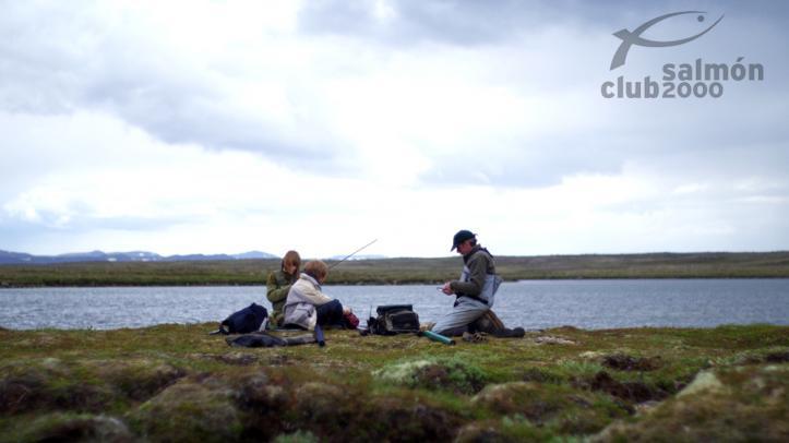 En el lago Ólafsvatn