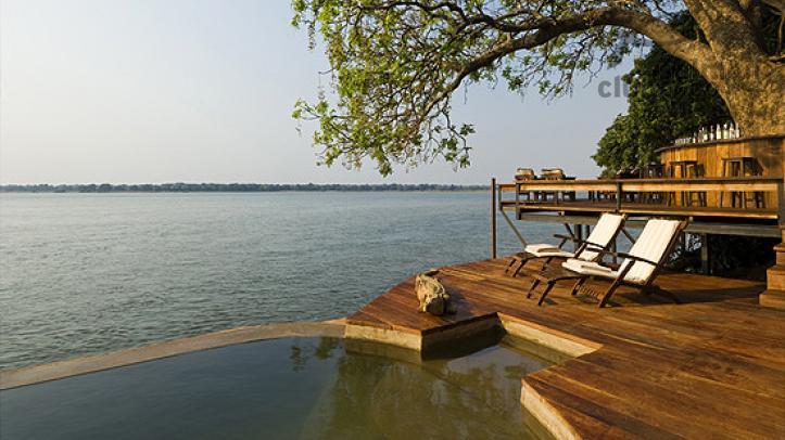 Terraza del Royal Zambezi Lodge.