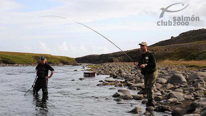 Pesca en el Río Jökla