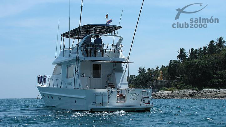 Lancha de pesca para exlorar al Mar de Andamán con bas en Phuket