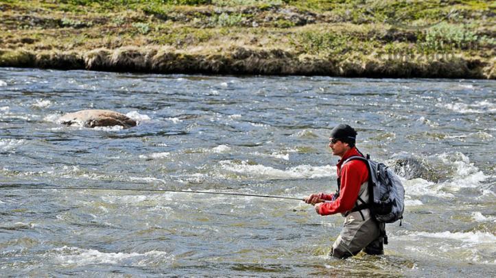 Pescando cerca del Campamento Norte