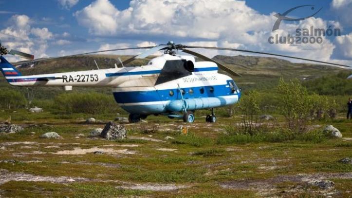 Traslado en helicóptero hasta VARZINA TROUT TENTED CAMP