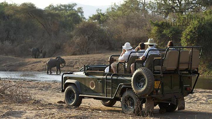 Safari por el P.N. Lower Zambezi. Royal Zambezi Lodge