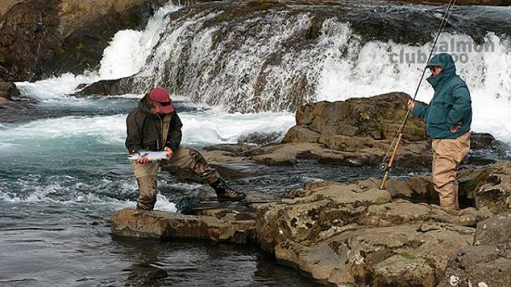 Pesca en Río Laxa in Kjos