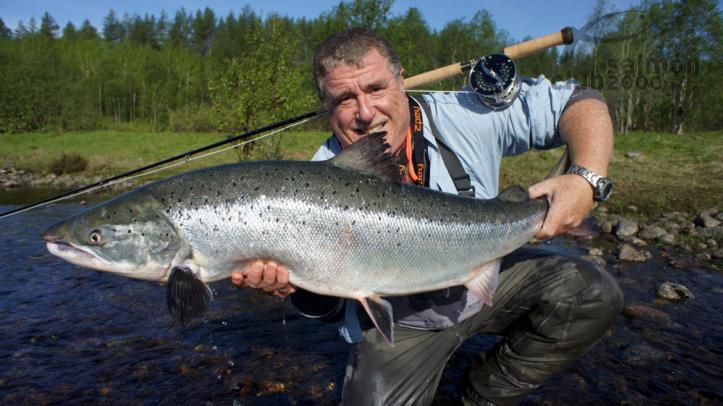 111cm record de Carles en pesca a mosca